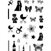 Card-io Combinations A7 Clear Stamp Set - Cake Accessories - CDCCSTCAK-01